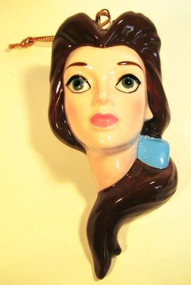Belle face Disney ornament