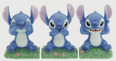 Stitch Hear No Evil Speak No Evil See No Evil Salt