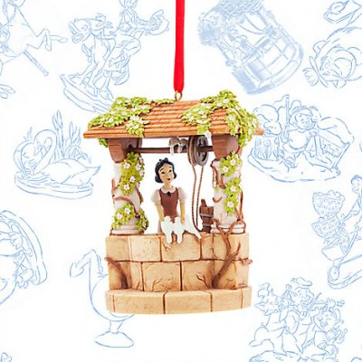 Snow White at wishing well Disney sketchbook ornament (2017)
