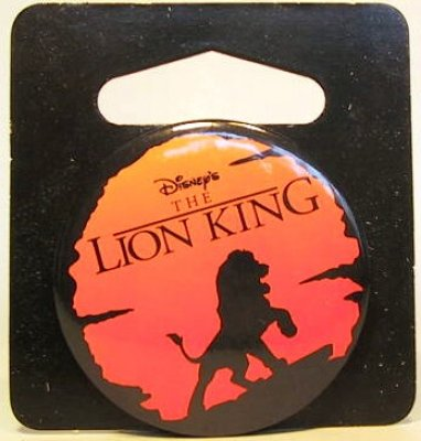 Disney Cookie Jars >> Lion King logo button from our Buttons collection   Disney collectibles and memorabilia ...