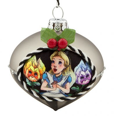 Alice and Talking Flowers glass drop ornament (2013)
